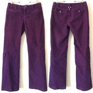 ATHLETA Plum Dry Dipper Corduroy Pants 6
